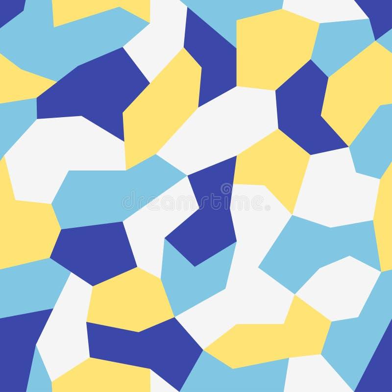 Modernt stads- camotryck för tyg Färgrik polygonmodell, geometrisk kamouflagebakgrund för abstrakt färg Sömlös mosaiktext royaltyfri illustrationer