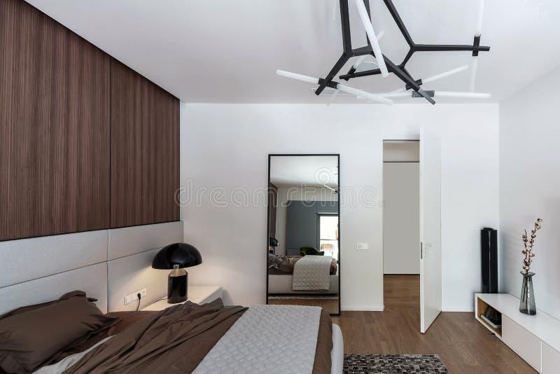modernt stilfullt för sovrum arkivbild