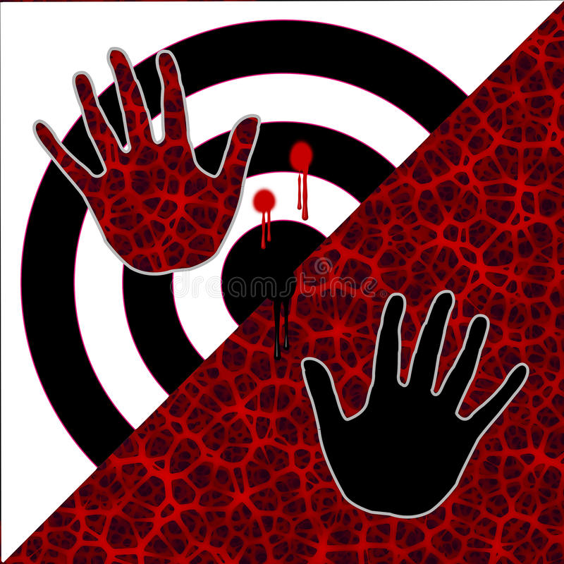 Modernt stopp våldillustrationen royaltyfri illustrationer