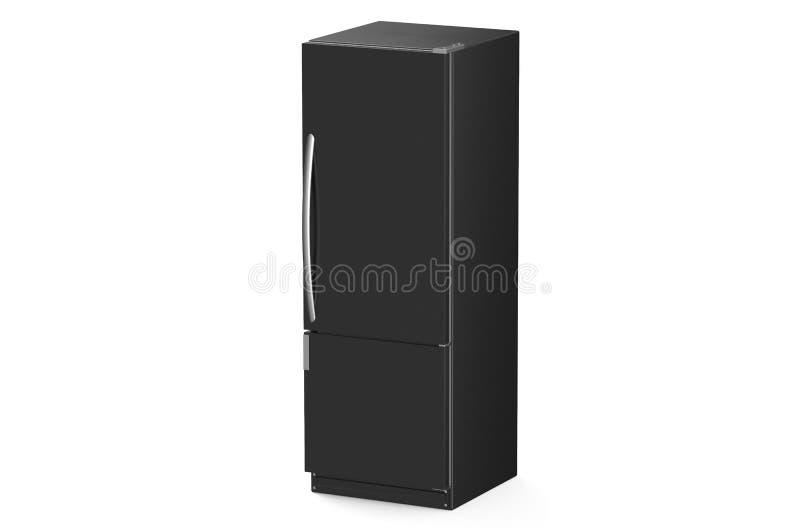 Modernt svart kylskåp stock illustrationer