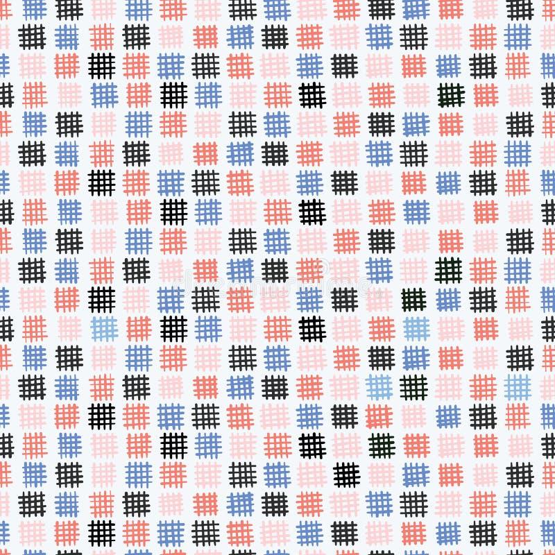 Modernt sytt knapphändigt lappar den sömlösa vektormodellen vektor illustrationer