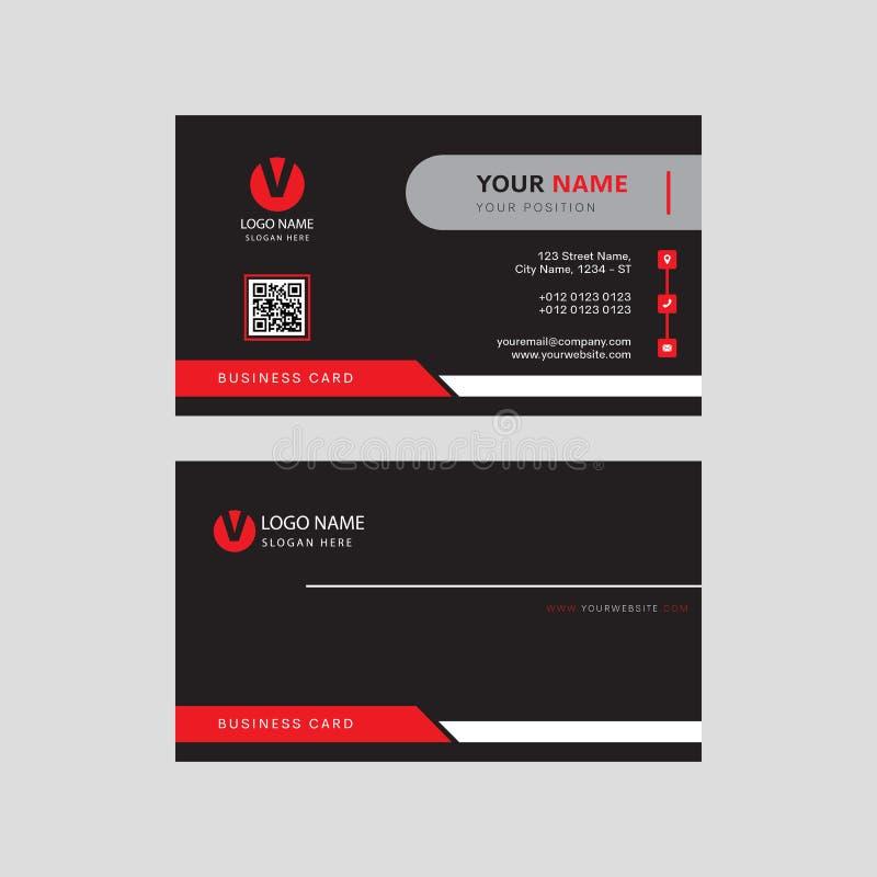 Modernt yrkesmässigt öga som fångar affärskortdesignen, visitkortmalldesign stock illustrationer