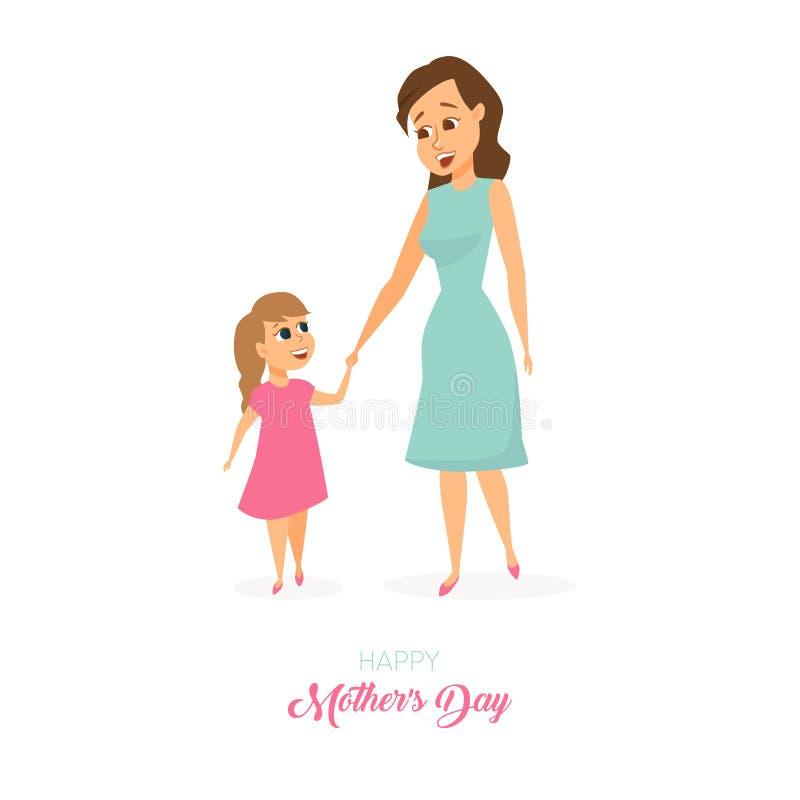 Moders dagkort vektor illustrationer