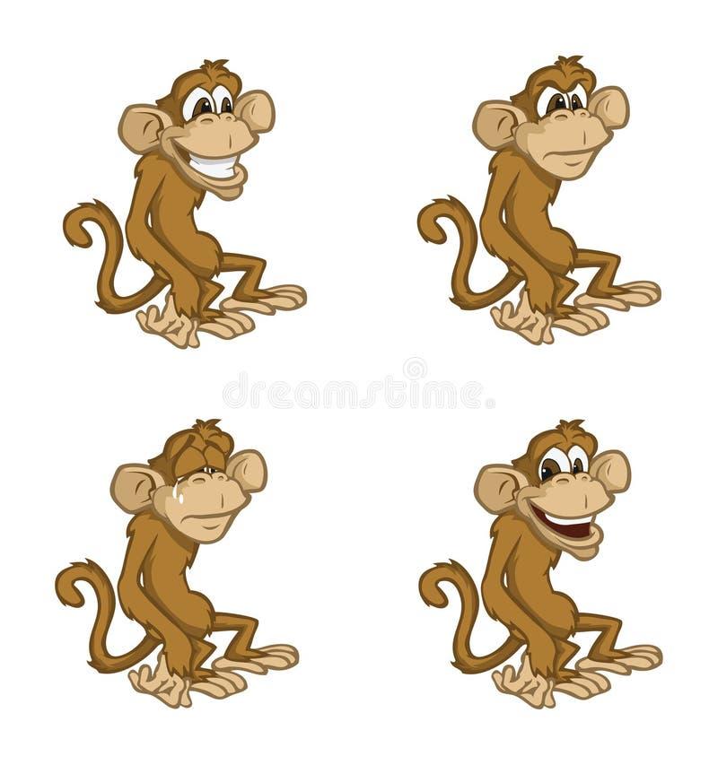 Modes de singe illustration de vecteur