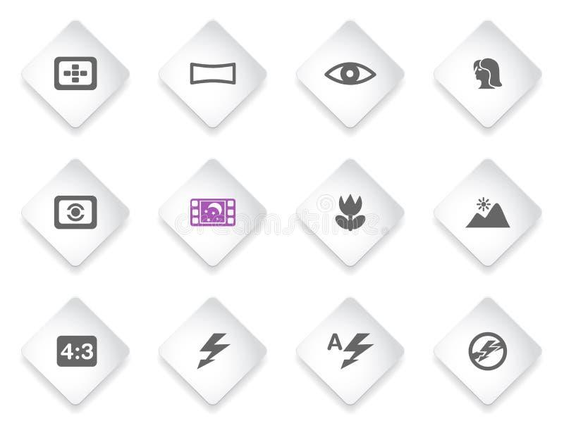 Modes des icônes de silhouette de photo illustration libre de droits