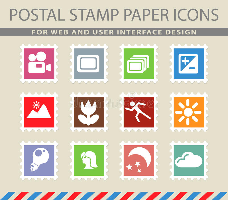 Modes des icônes de silhouette de photo illustration stock