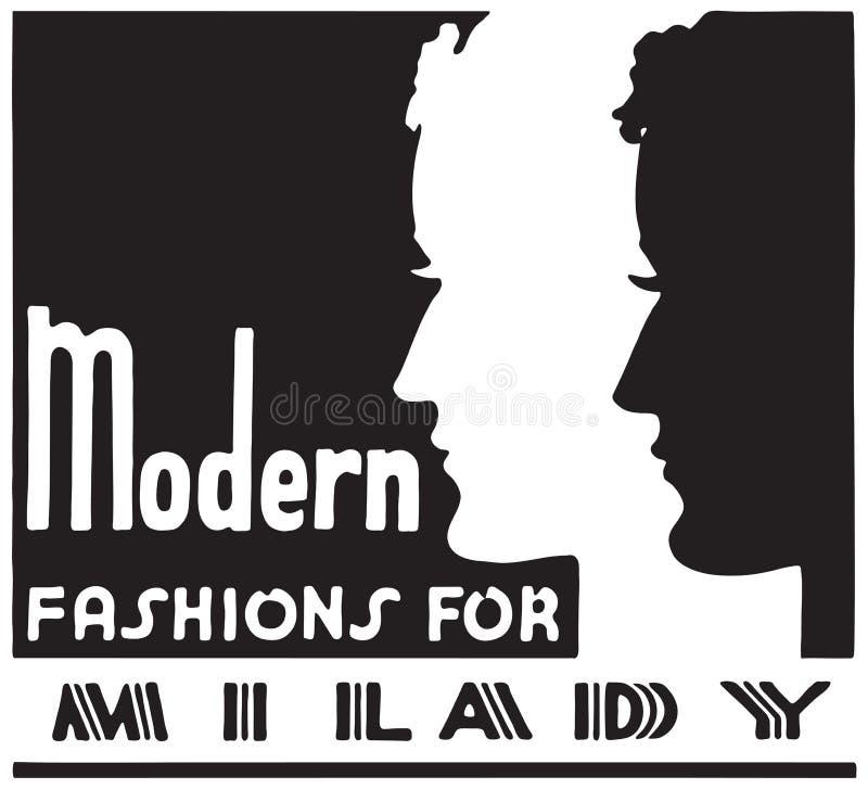 Modes modernes pour la madame illustration de vecteur