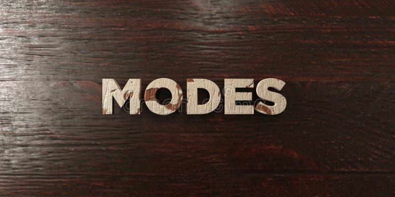 Modes - titre en bois sale sur l'érable - image courante gratuite de redevance rendue par 3D illustration libre de droits