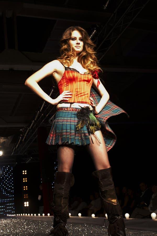 Modeschau in Warschau stockfoto