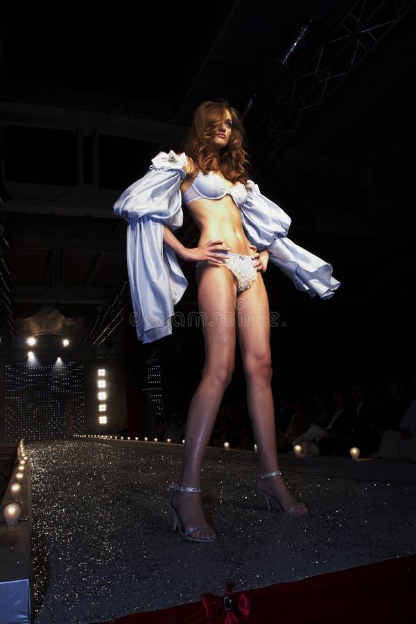 Modeshow in Warshau stock fotografie