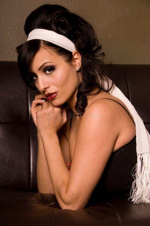 modesixtieskvinna royaltyfri foto