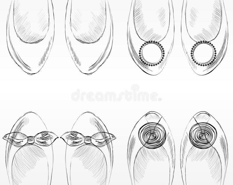 Modeskor. royaltyfri illustrationer
