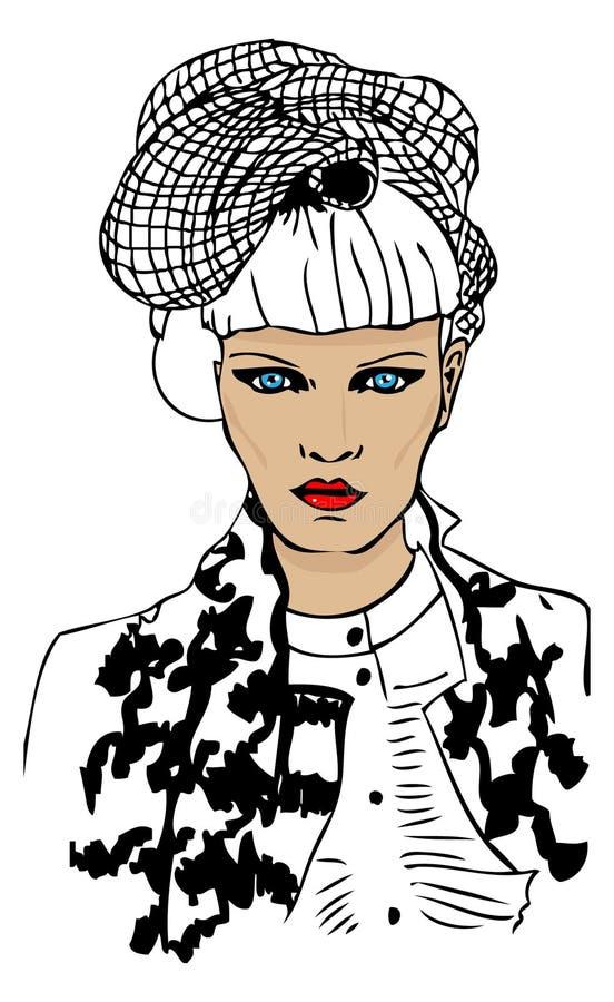 modeståendekvinna royaltyfri illustrationer