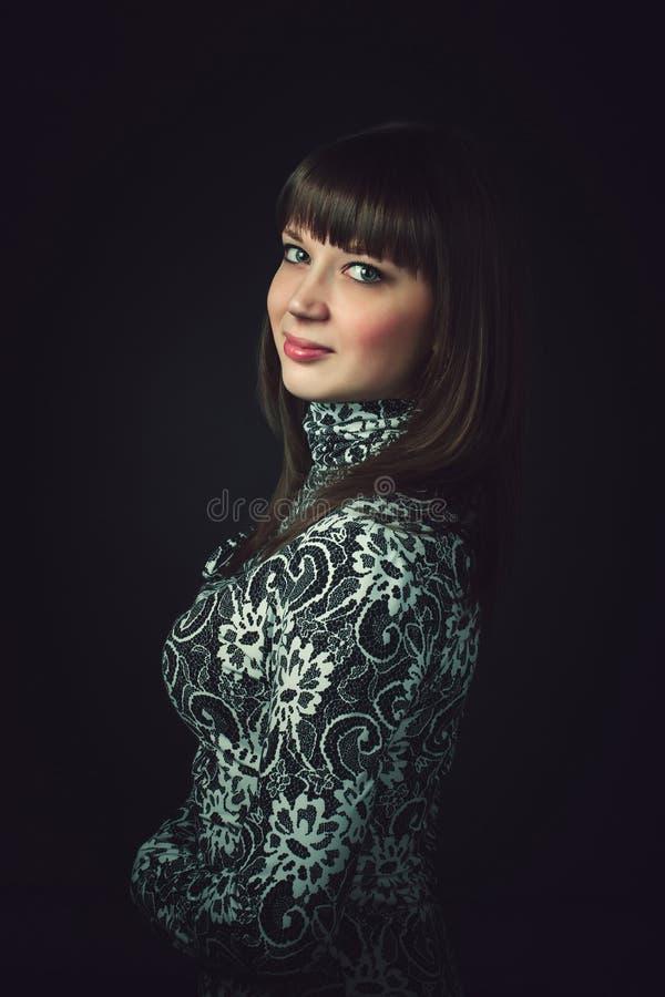Modest girl. stock image