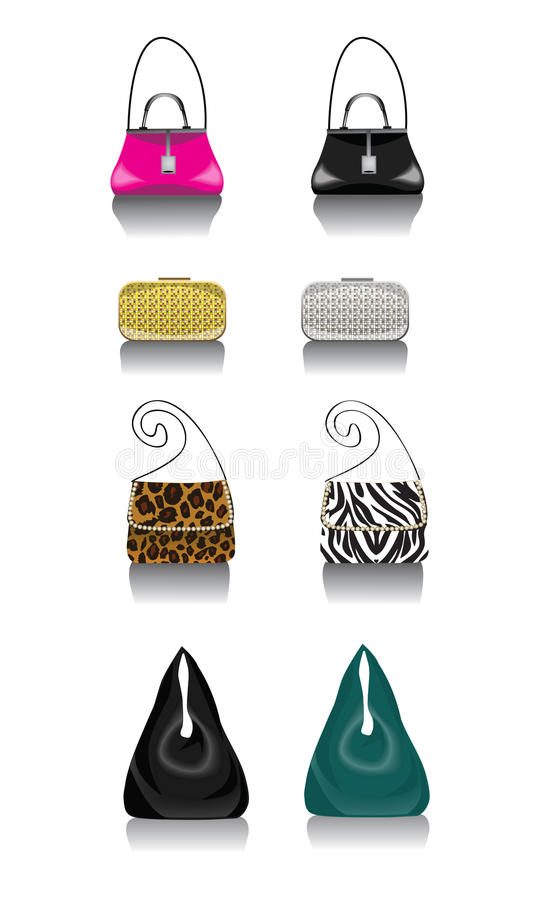 Modetaschen stockbilder