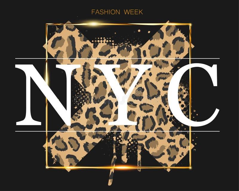 Modevecka i New York p? bakgrunden vektor illustrationer