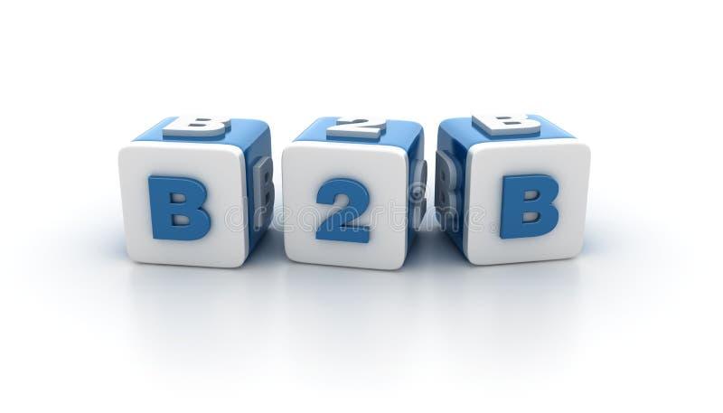 Modewort blockiert Reihe - B2B vektor abbildung