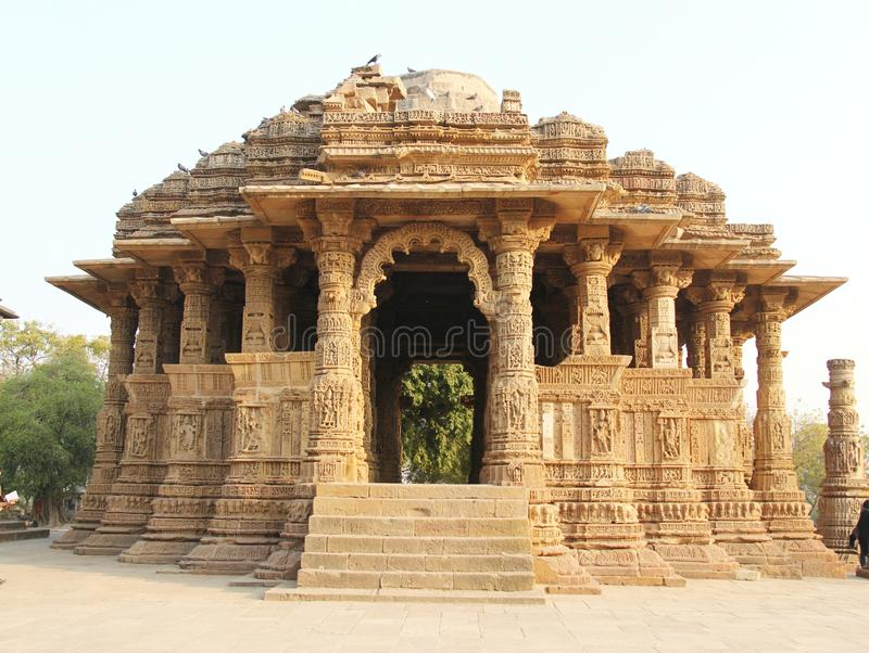 Modhera Sun tempel arkivfoton