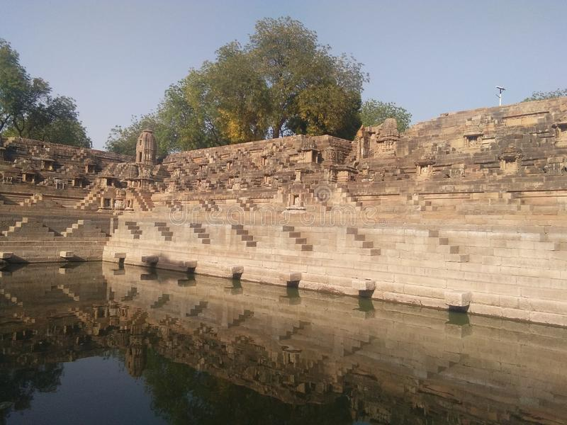 Modhera sun temple Gujarat trip with my family. Awesome mythology place great history attached to it great holiday weekend I have enjoyed stock images