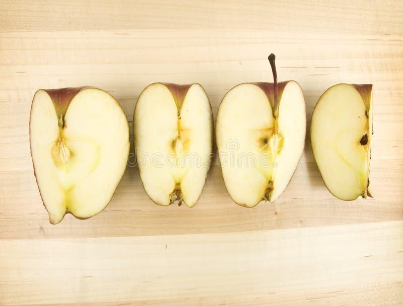 Modi affettati della mela quattro fotografia stock