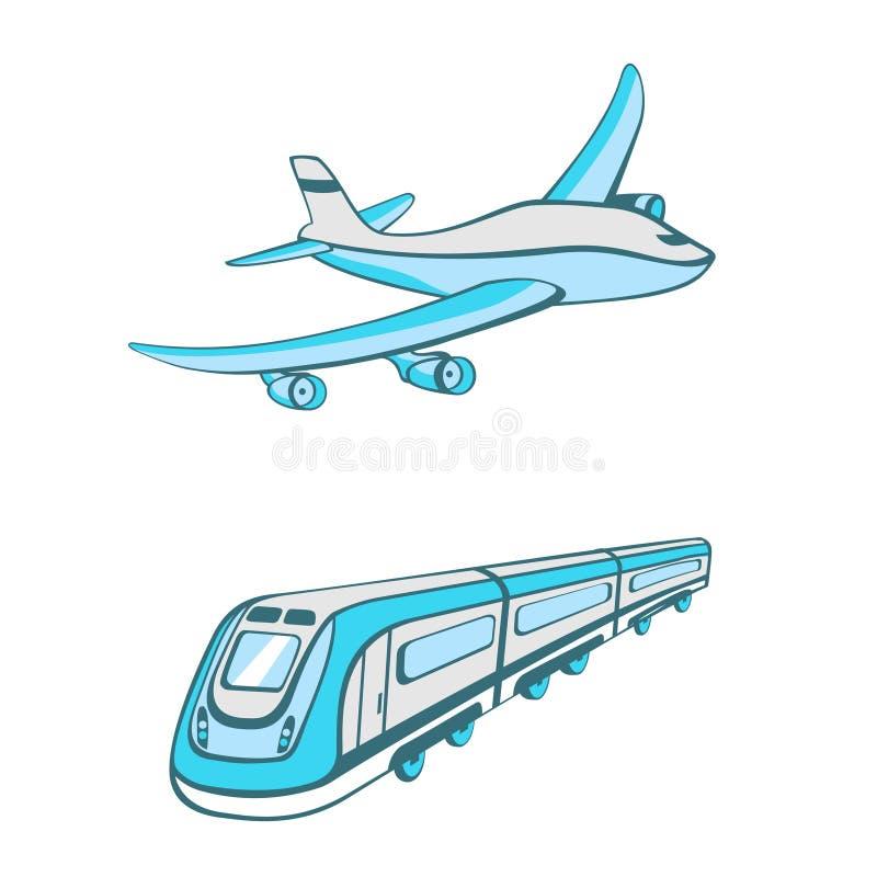 Modi di trasporto royalty illustrazione gratis