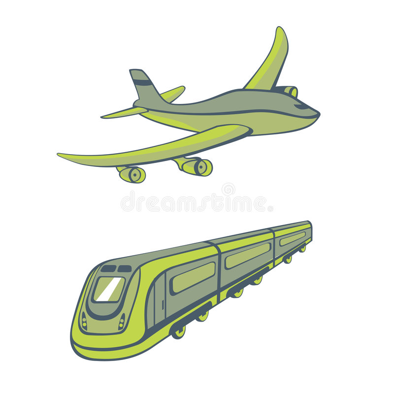 Modi di trasporto illustrazione di stock