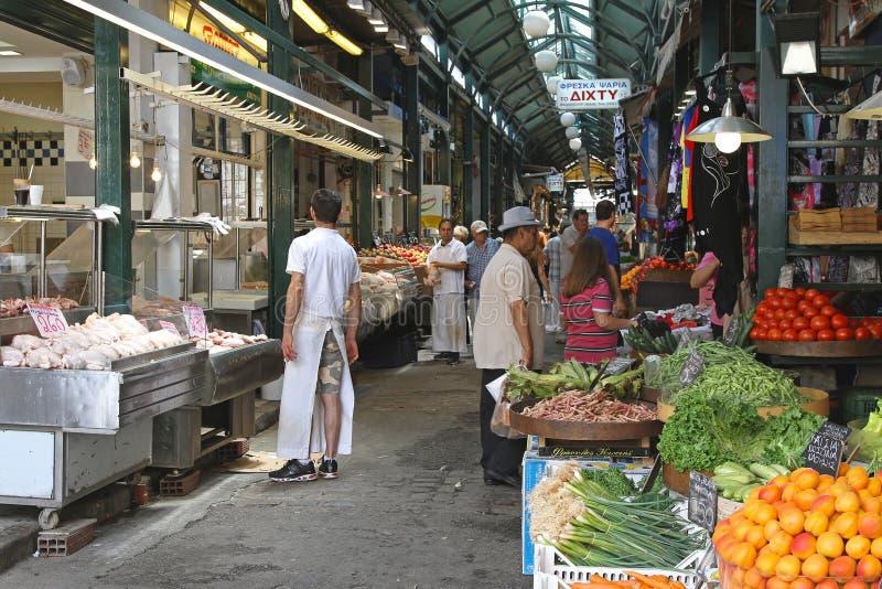 Modianomarkt Thessaloniki royalty-vrije stock foto
