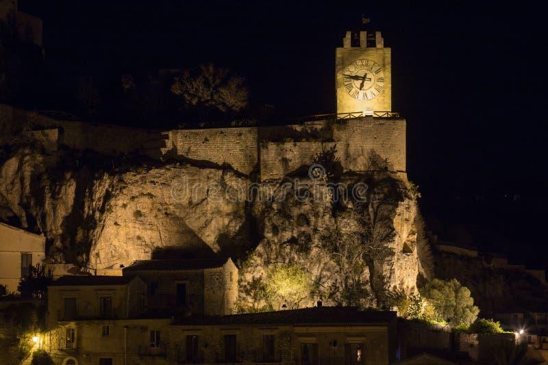 Modica clock tower - Torre dell Orologio stock photos
