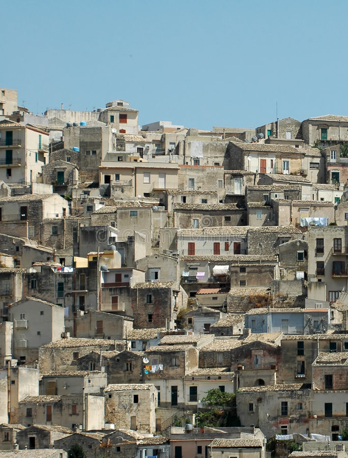 Modica Skyline2 stock photos