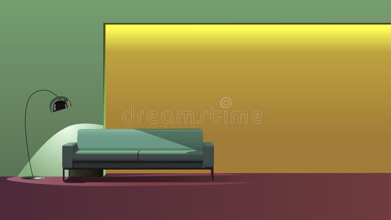 Modieus binnenlands ontwerp vector illustratie