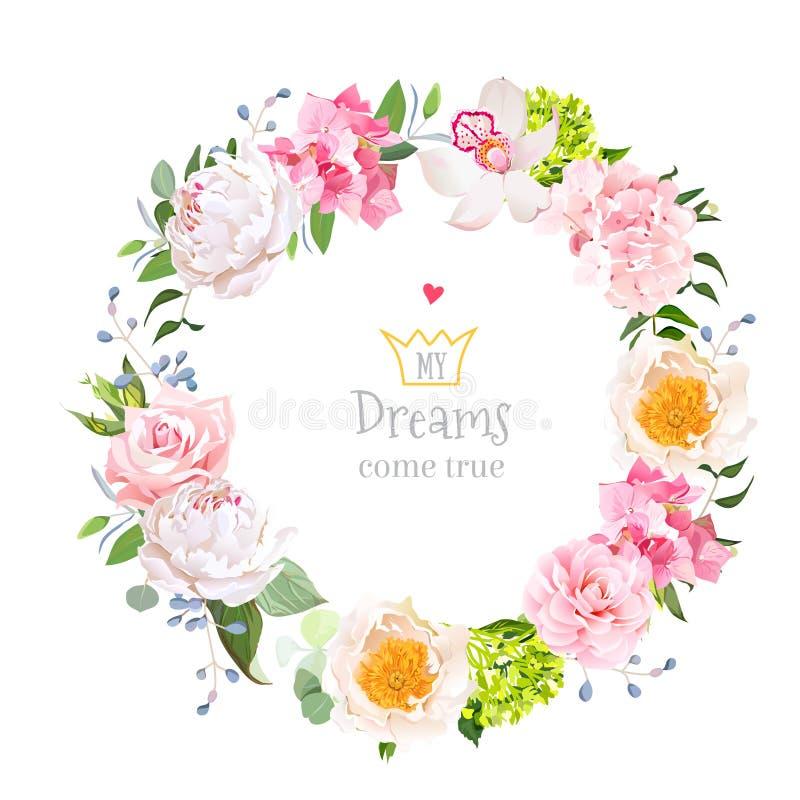 Modieus bloemen vectorontwerp om kader vector illustratie