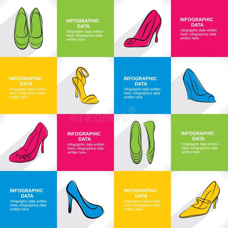 Modieus de bannerontwerp van de schoeiselverkoop stock illustratie