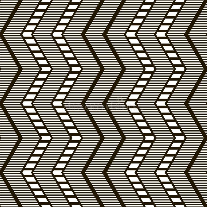 Modieus elegant modern zwart-wit naadloos patroon stock illustratie