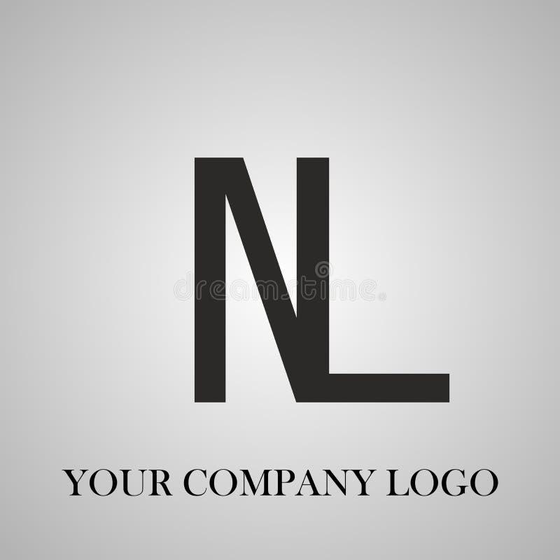 Modieus embleem Uw ontwerp van het bedrijfembleem Een van het bedrijfembleem of adreskaartje ontwerp royalty-vrije illustratie