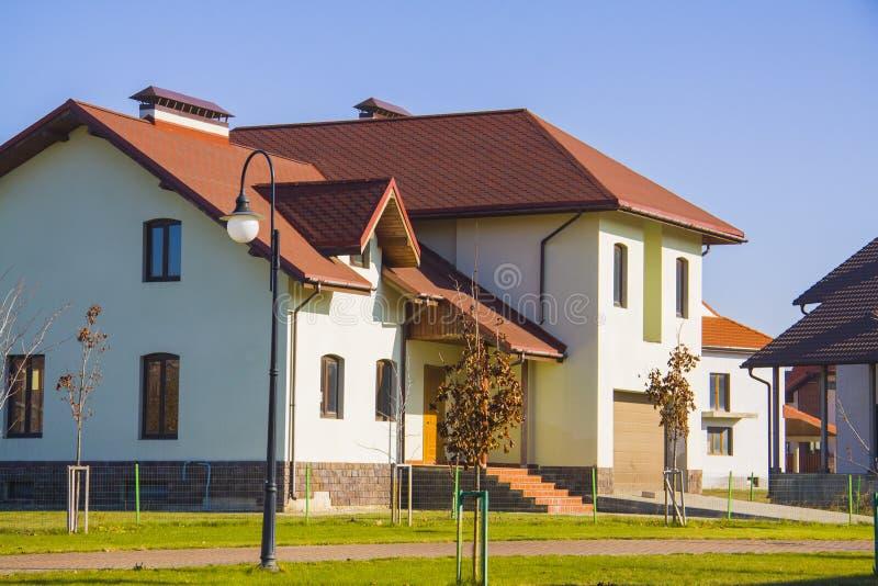 Modieus Europees huis stock foto's