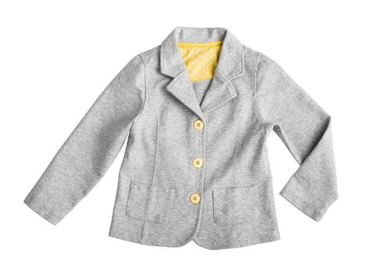 Modieus grijs toevallig kostuumjasje stock afbeelding