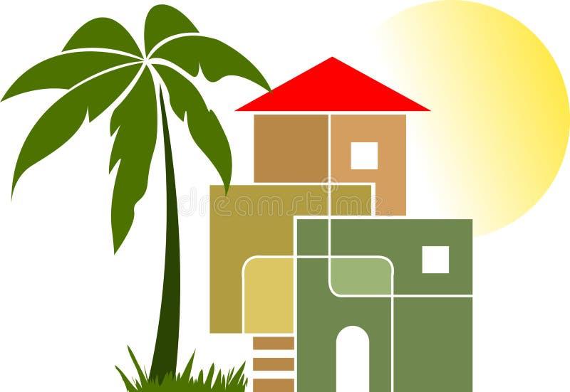 Modieus huis royalty-vrije illustratie