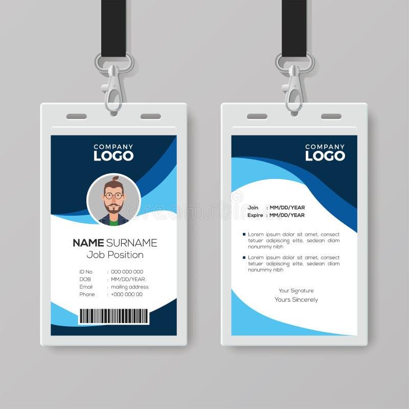 Modieus Identiteitskaart met Blauwe Details stock illustratie