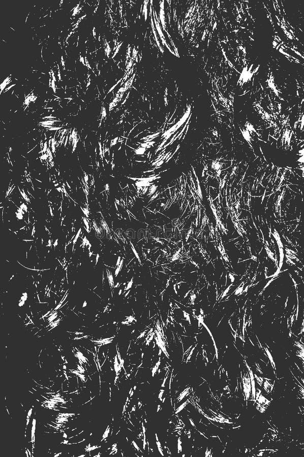 Modieus modieus kapsel Mooi lang zwart haar Schoonheidsvrouw met Lang Gezond en Glanzend Vlot Zwart Haar Zwarte achtergrond van h stock illustratie