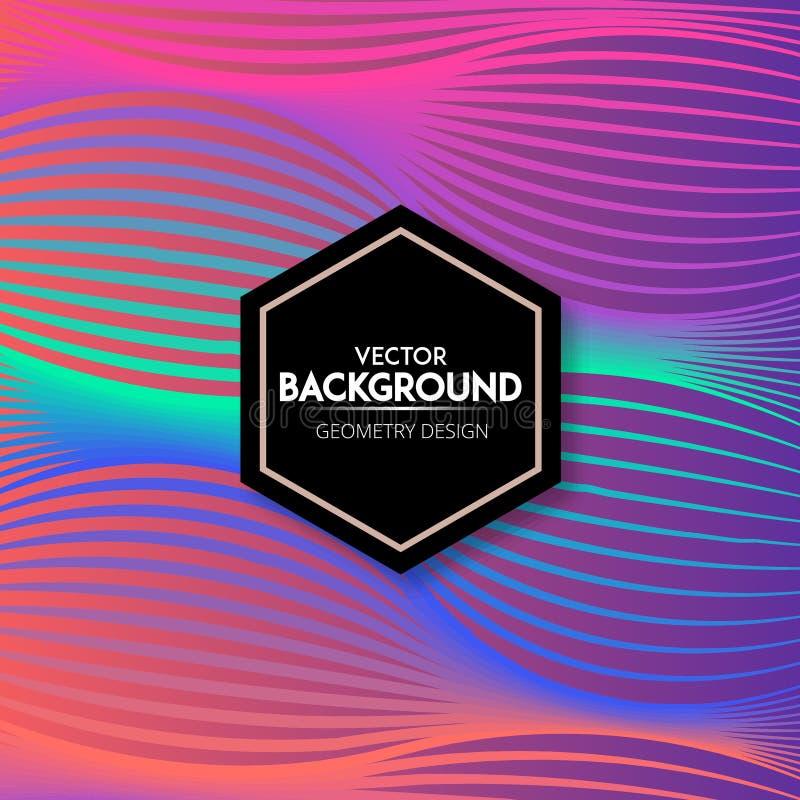 Modieus kleurrijk van de gradiëntgolf ontwerp als achtergrond stock illustratie