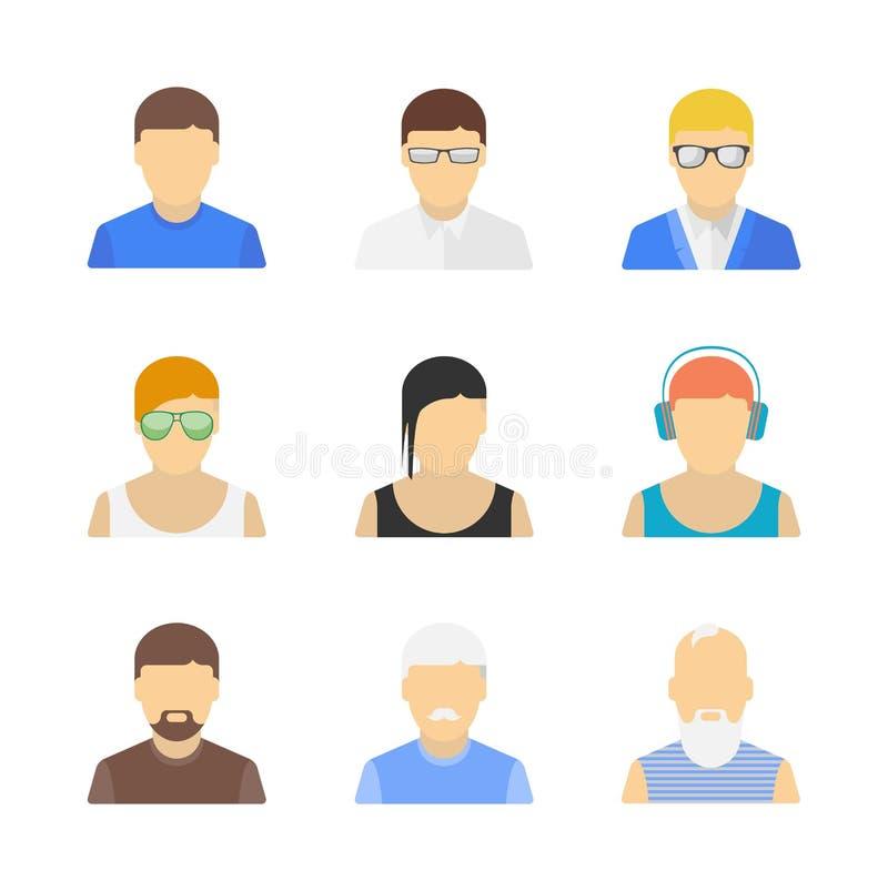 Modieus mannelijk karakter - reeks vector illustratie