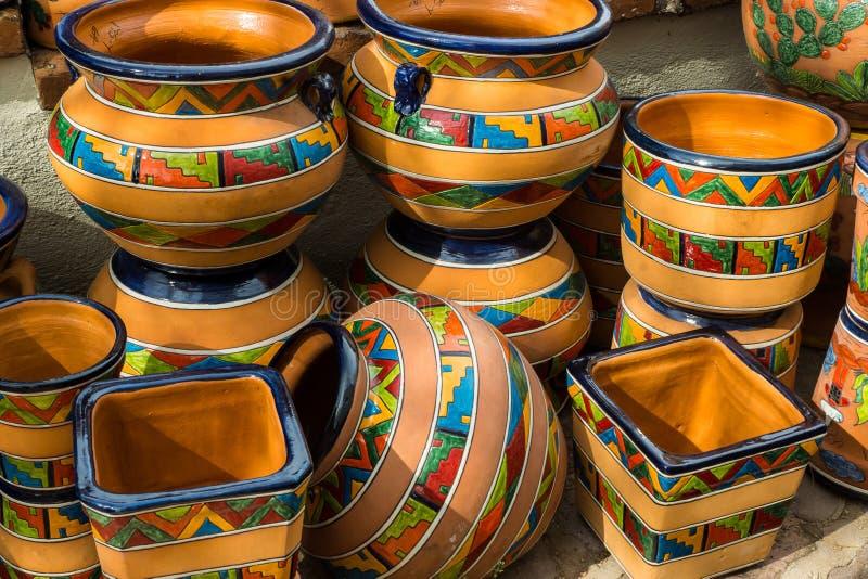 Modieus Mexicaans Aardewerk royalty-vrije stock afbeelding