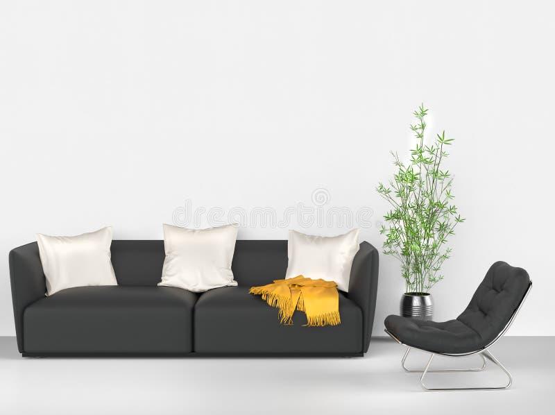 Modieus modern meubilair royalty-vrije stock foto's