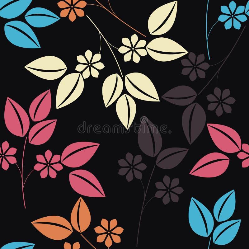Modieus naadloos patroon met kleurrijk bloemenboeket royalty-vrije illustratie