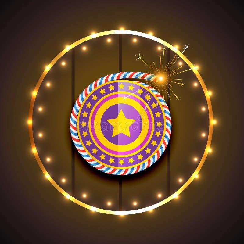 Modieus ontwerp van diwali vector illustratie