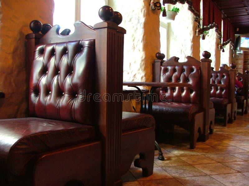 Modieus restaurant royalty-vrije stock foto