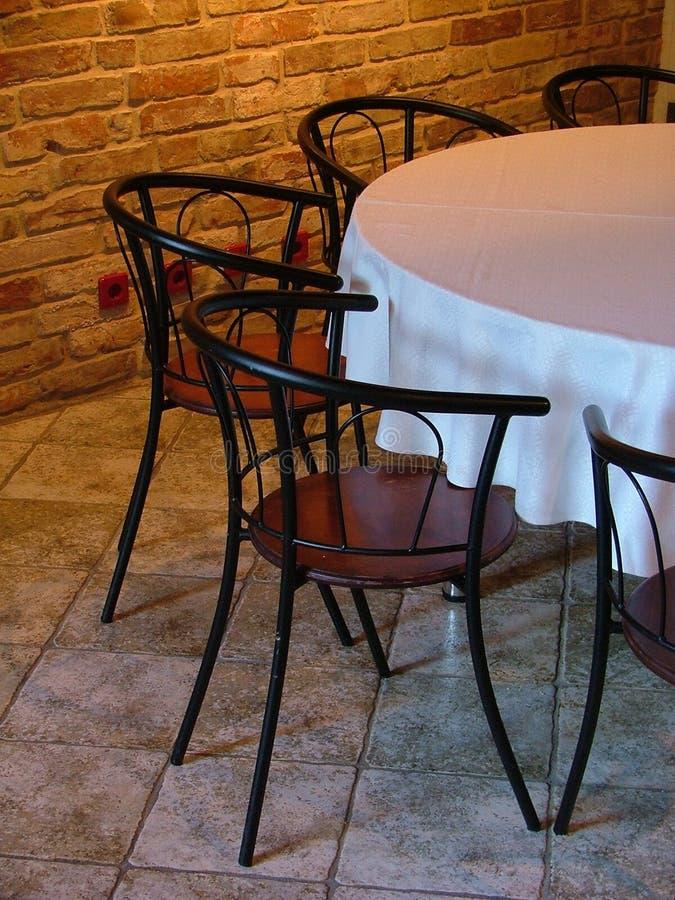 Modieus restaurant royalty-vrije stock afbeeldingen