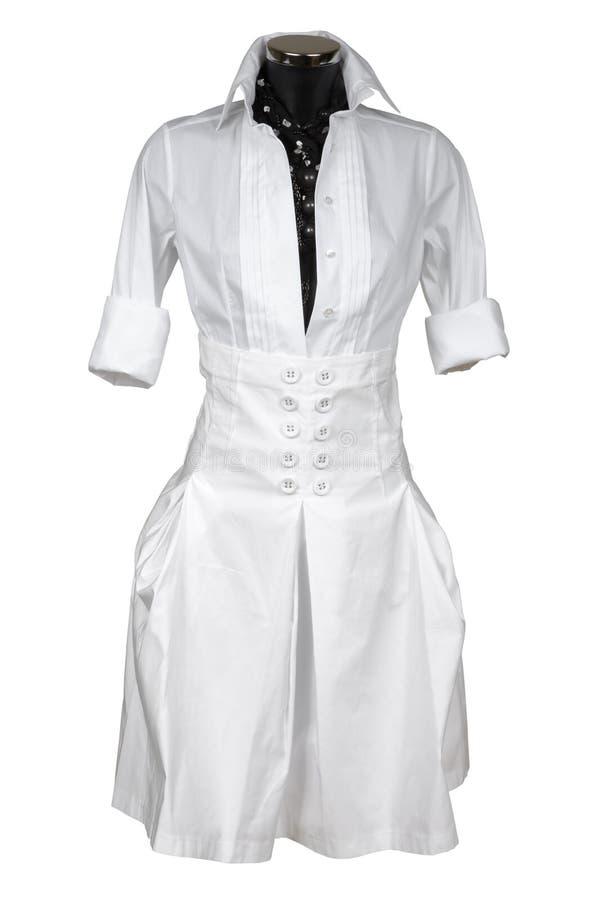 Modieus vrouwelijk kostuum royalty-vrije stock fotografie