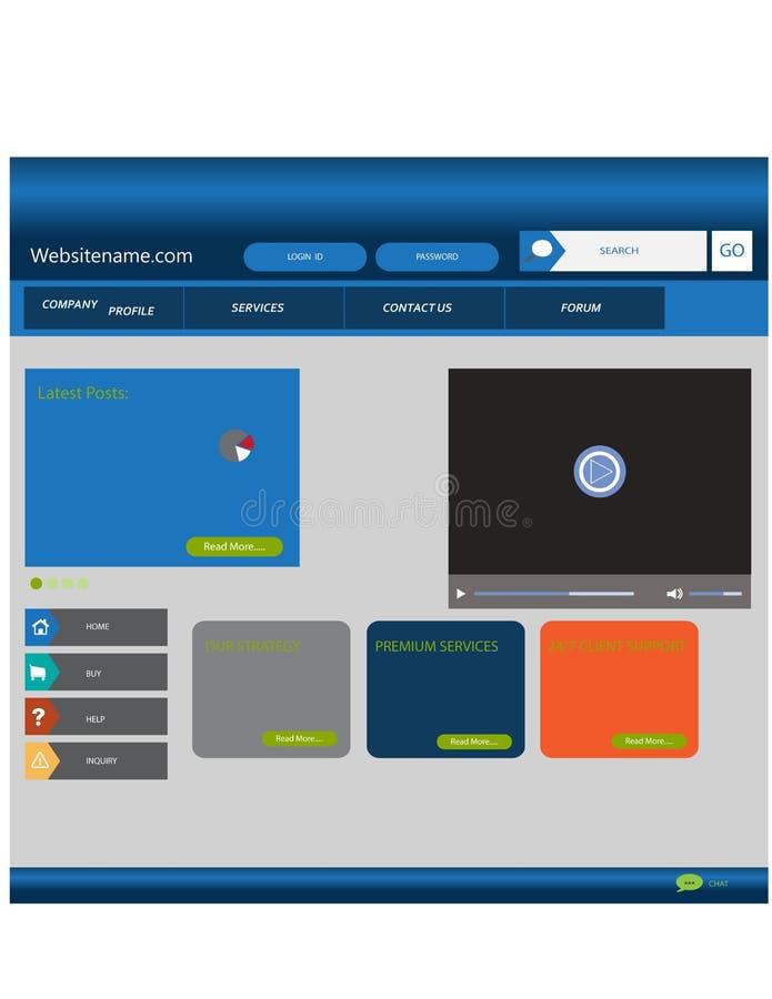 Modieus websitemalplaatje - portefeuillelay-out stock fotografie