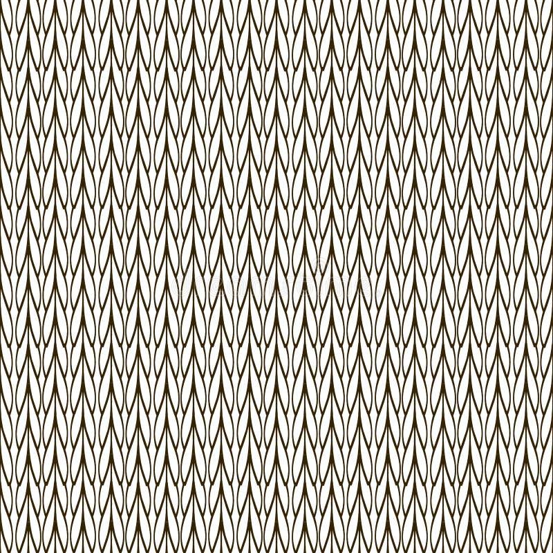 Modieus zwart-wit gebreid naadloos patroon Sierabs royalty-vrije illustratie